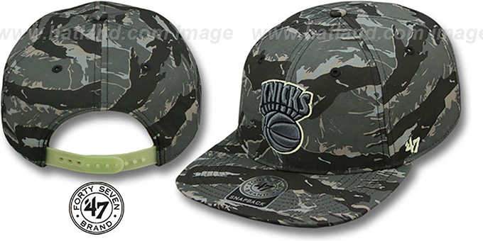 Knicks 'NIGHT-VISION SNAPBACK' Adjustable Hat by Twins 47 Brand : pictured without stickers that these products are shipped with