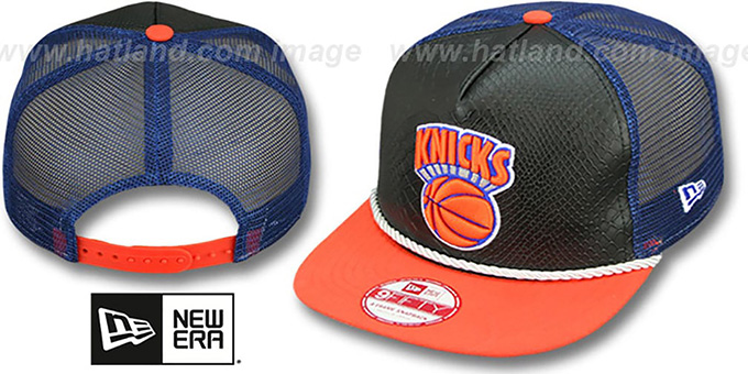 a5ee15bb6845b ... New Era. video available. Knicks  SNAKE A-FRAME SNAPBACK  Black-Orange  Hat by ...