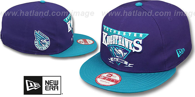 Knighthawks 'TEAM ANGLE' 9FIFTY Snapback Hat by New Era : pictured without stickers that these products are shipped with