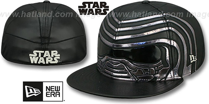 Kylo Ren 'CHARACTER FACE' Fitted Hat by New Era : pictured without stickers that these products are shipped with