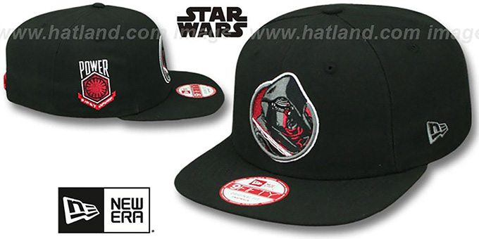 Kylo Ren 'RETROFLECT SNAPBACK' Black Hat by New Era : pictured without stickers that these products are shipped with
