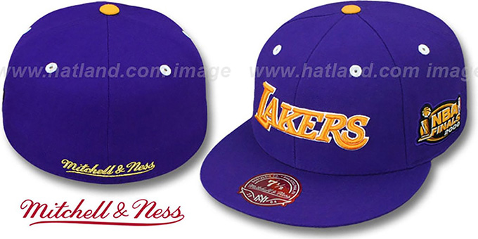 Lakers 2000 'COMMEMORATIVE CHAMPS' Hat by Mitchell & Ness : pictured without stickers that these products are shipped with
