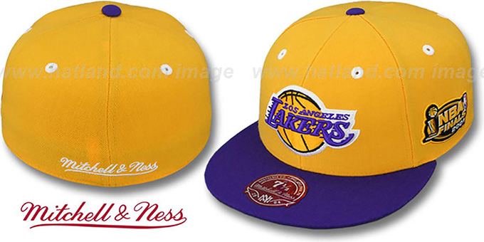 Lakers 2001 'COMMEMORATIVE CHAMPS' Hat by Mitchell & Ness : pictured without stickers that these products are shipped with