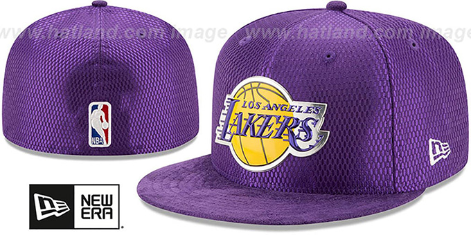 sports shoes 6fa88 8d6e3 Los Angeles Lakers 2017 ONCOURT DRAFT Purple Fitted Hat by New Era. Lakers   2017 ONCOURT DRAFT  Purple Fitted Hat by ...