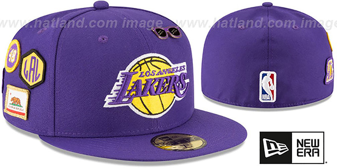 Los Angeles Lakers 2018 NBA DRAFT Purple Fitted Hat b3f488b48da