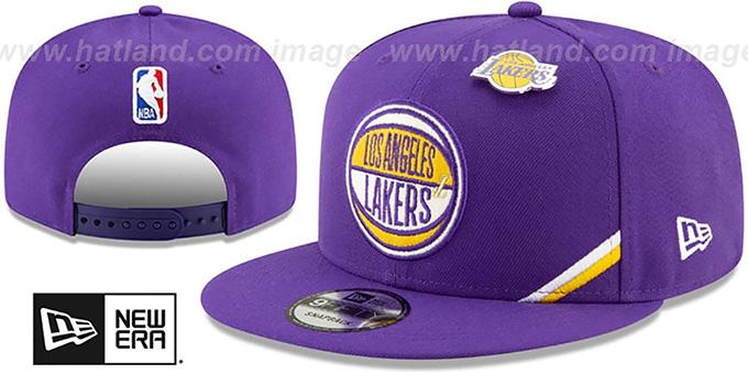 pretty nice f47d8 33d5e Los Angeles Lakers 2019 NBA DRAFT SNAPBACK Purple Hat by New Era. Lakers   2019 NBA DRAFT SNAPBACK  Purple Hat by ...