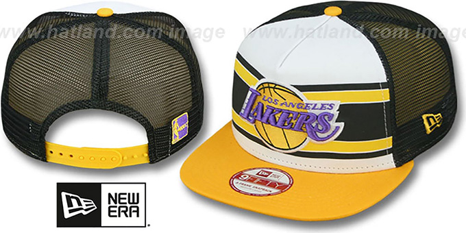 Lakers 'BAND-SLAP SNAPBACK' Hat by New Era : pictured without stickers that these products are shipped with