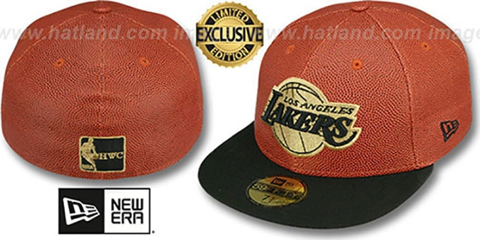 Lakers 'BASKET-BALLIN' Fitted Hat by New Era : pictured without stickers that these products are shipped with