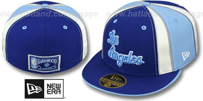 Lakers HARDWOOD 'EXPOSED' Fitted Hat by New Era : pictured without stickers that these products are shipped with