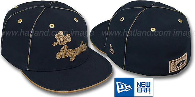 Lakers 'HW NAVY DaBu' Fitted Hat by New Era : pictured without stickers that these products are shipped with