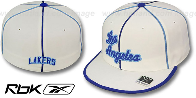 Lakers 'HW WILDSIDE' Fitted White Hat by Reebok