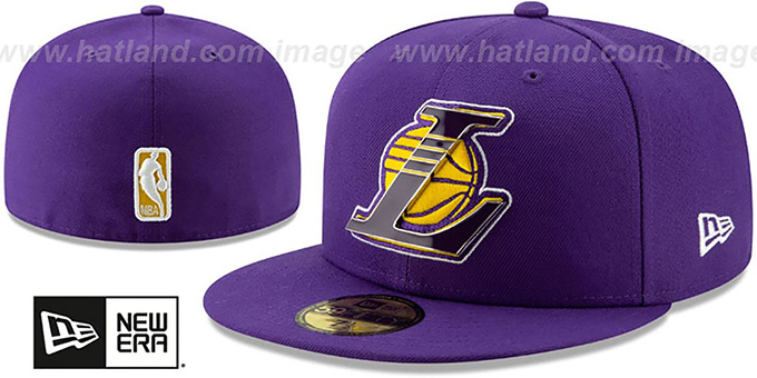 Lakers 'METAL-N-THREAD' Purple Fitted Hat by New Era