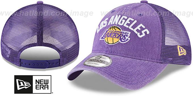 267ec5ea0ce98 Los Angeles Lakers RUGGED-TEAM TRUCKER SNAPBACK Purple Hat