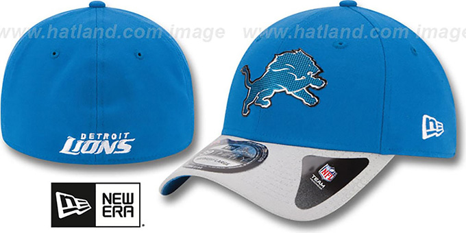 Lions '2015 NFL DRAFT FLEX'  Hat by New Era : pictured without stickers that these products are shipped with