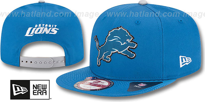 Lions '2015 NFL DRAFT SNAPBACK' Blue Hat by New Era : pictured without stickers that these products are shipped with