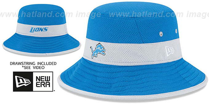Lions '2015 NFL TRAINING BUCKET' Blue Hat by New Era : pictured without stickers that these products are shipped with