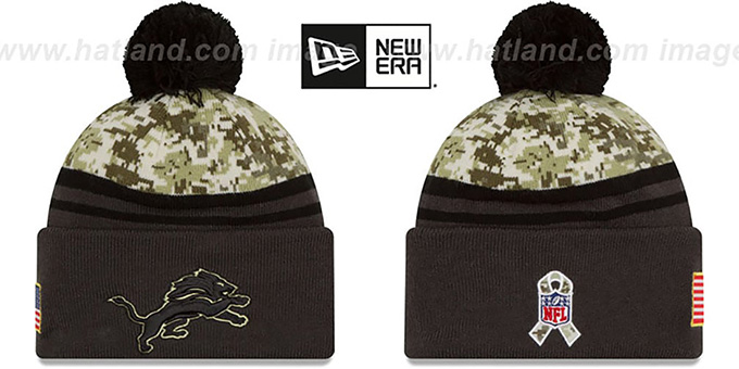 Lions 2016 SALUTE-TO-SERVICE Knit Beanie Hat by New Era 83b31002f