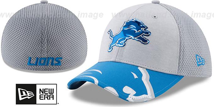 2ed2b53293bdb3 Detroit Lions 2017 NFL ONSTAGE FLEX Hat by New Era