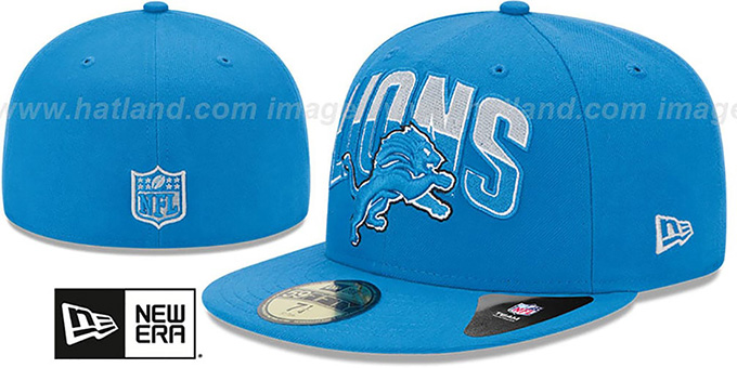 Lions 'NFL 2013 DRAFT' Blue 59FIFTY Fitted Hat by New Era : pictured without stickers that these products are shipped with
