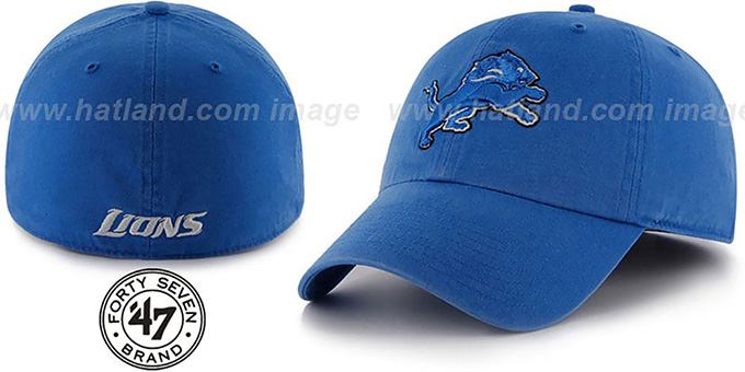 Lions 'NFL FRANCHISE' Blue Hat by 47 Brand : pictured without stickers that these products are shipped with