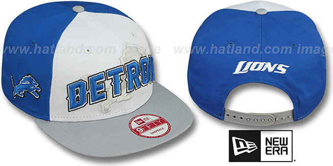 Lions 'NFL ONFIELD DRAFT SNAPBACK' Hat by New Era : pictured without stickers that these products are shipped with