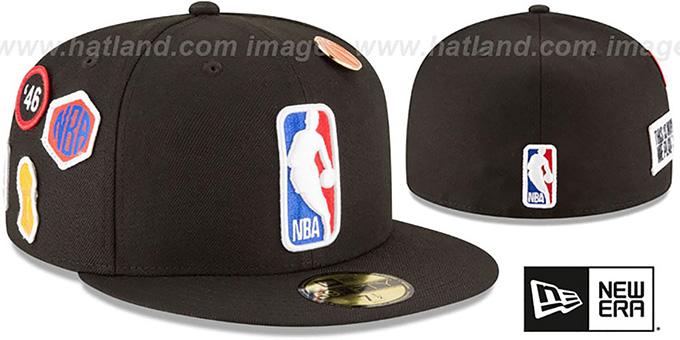 ba28414382d0be Logoman 2018 NBA DRAFT Black Fitted Hat by New Era