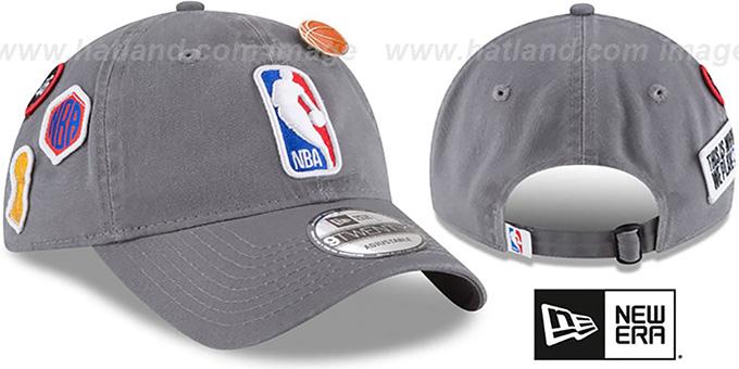 7c49061512329d Logoman '2018 NBA DRAFT STRAPBACK' Grey Hat by New Era