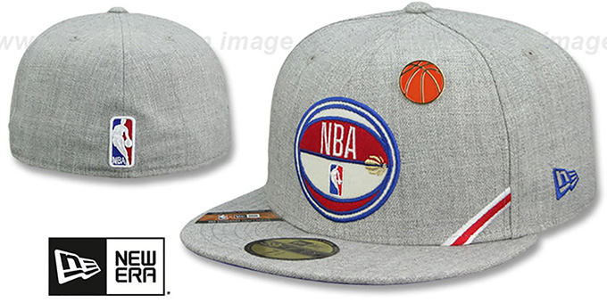 Logoman '2019 NBA DRAFT' Heather Grey Fitted Hat by New Era