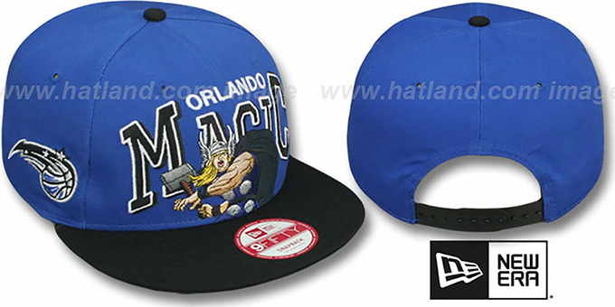 Magic 'CHALK-UP HERO SNAPBACK' Royal-Black Hat by New Era : pictured without stickers that these products are shipped with