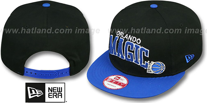Magic 'CHENILLE-ARCH SNAPBACK' Black-Blue Hat by New Era : pictured without stickers that these products are shipped with