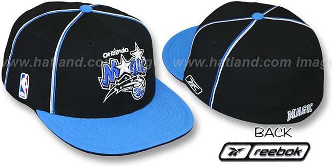 Magic 'CROSS TAPED' Fitted Hat by Reebok : pictured without stickers that these products are shipped with