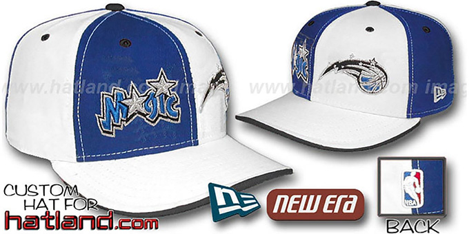 Magic 'DOUBLE WHAMMY' Royal-White Fitted Hat : pictured without stickers that these products are shipped with