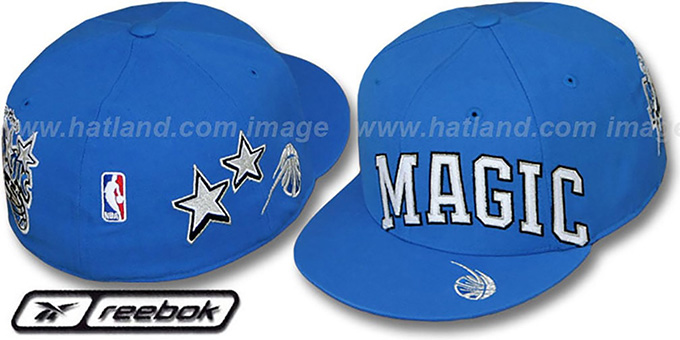 Magic 'ELEMENTS' Fitted Hat by Reebok - royal : pictured without stickers that these products are shipped with