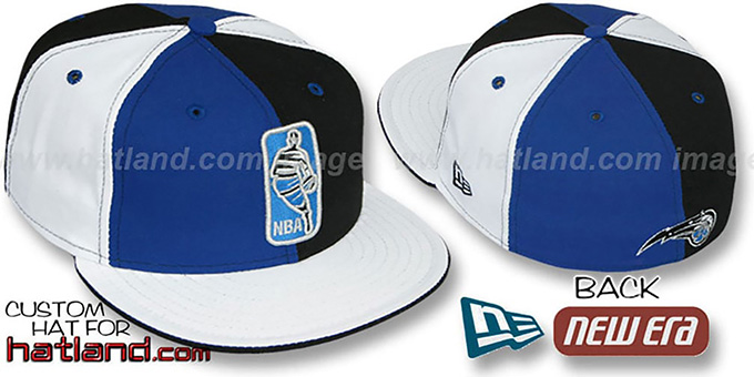 Magic 'KEY-INSIDER PINWHEEL' Royal-Black-White Fitted Hat : pictured without stickers that these products are shipped with