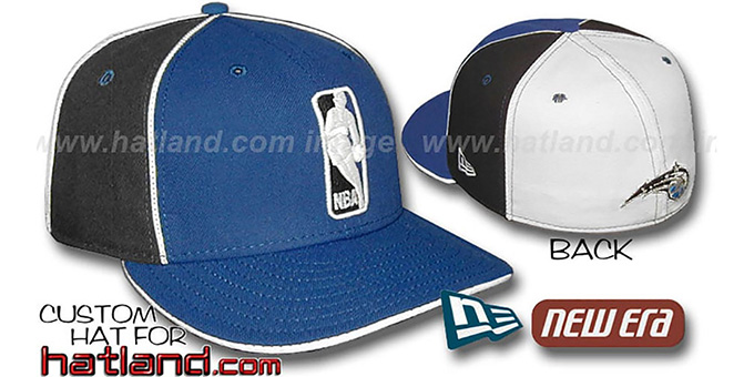 Magic 'LOGOMAN-2' Royal-Black-White Fitted Hat by New Era : pictured without stickers that these products are shipped with