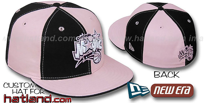 Magic 'PINWHEEL' Black-Pink Fitted Hat by New Era : pictured without stickers that these products are shipped with