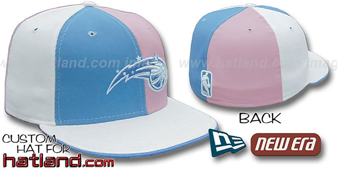 Magic 'PINWHEEL' Columbia-Pink-White Fitted Hat by New Era : pictured without stickers that these products are shipped with