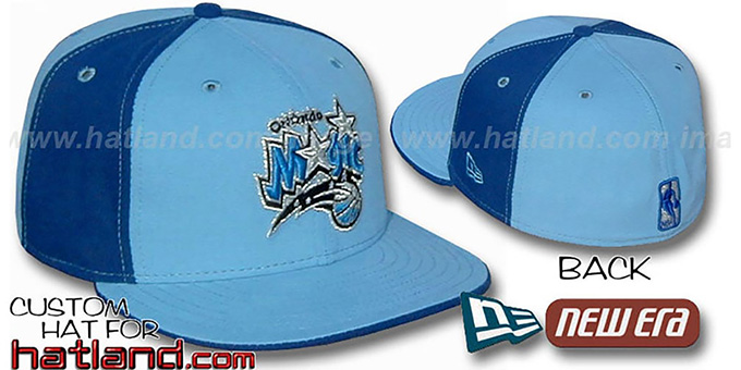 Magic 'PINWHEEL' Columbia-Royal Fitted Hat by New Era : pictured without stickers that these products are shipped with