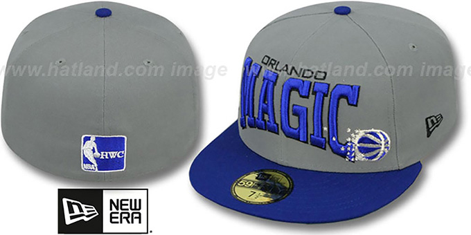 Magic 'PRO-ARCH' Grey-Blue Fitted Hat by New Era : pictured without stickers that these products are shipped with