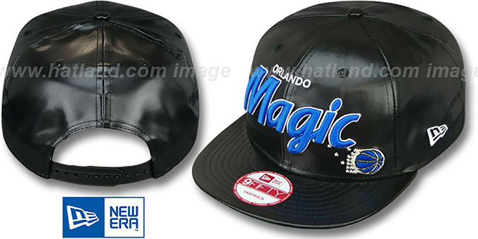 Magic 'REDUX SNAPBACK' Black Hat by New Era : pictured without stickers that these products are shipped with