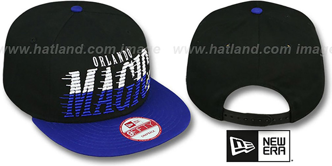 Magic 'SAILTIP SNAPBACK' Black-Blue Hat by New Era : pictured without stickers that these products are shipped with