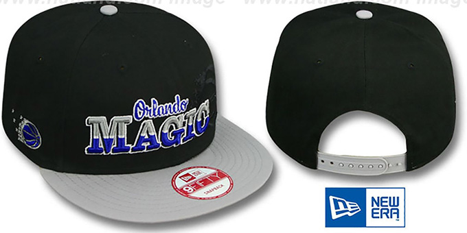 Magic 'SPLIT-BLOCK SNAPBACK' Black-Grey Hat by New Era : pictured without stickers that these products are shipped with