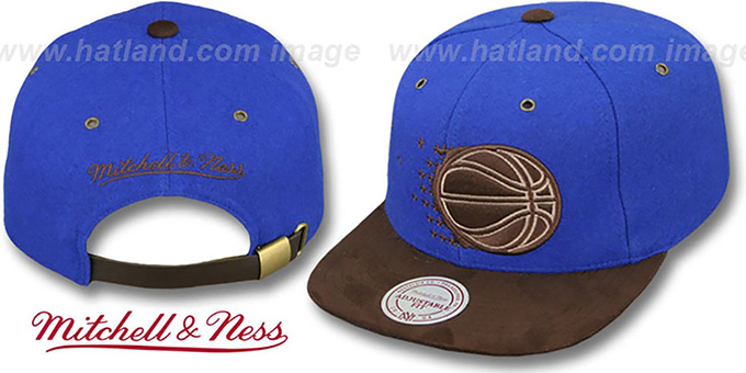 Magic 'TC-BROWN SUEDE STRAPBACK' Hat Mitchell & Ness : pictured without stickers that these products are shipped with