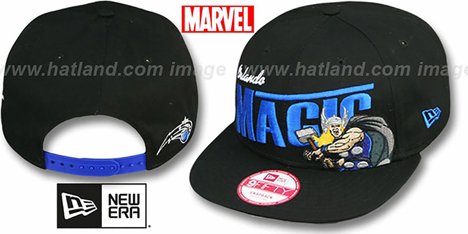 Magic 'TEAM-HERO SNAPBACK' Black Hat by New Era : pictured without stickers that these products are shipped with
