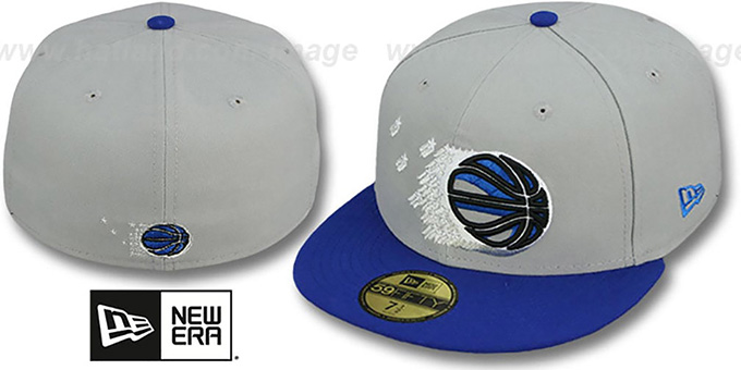 Magic 'TRACE-POP' Grey-Blue Fitted Hat by New Era : pictured without stickers that these products are shipped with