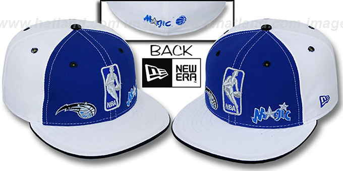 Magic 'TRIPLE THREAT' Royal-White Fitted Hat by New Era : pictured without stickers that these products are shipped with