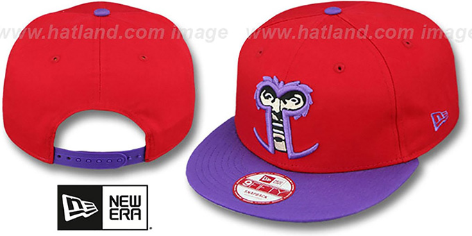 Magneto 'CABESA-MUTANT SNAPBACK' Adjustable Hat by New Era : pictured without stickers that these products are shipped with