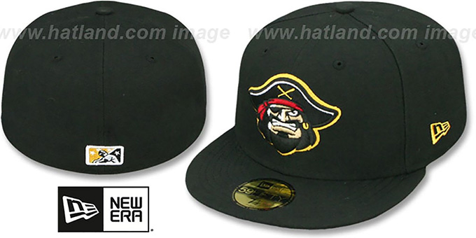 Marauders 'PERFORMANCE HOME' Black Fitted Hat by New Era : pictured without stickers that these products are shipped with