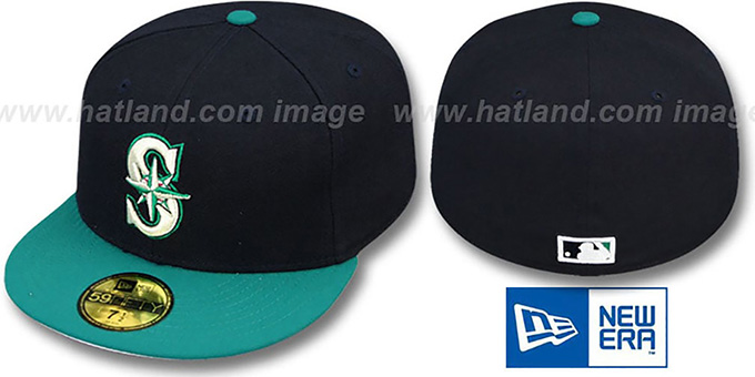 Mariners 1999 'COOP' HOME Fitted Hat by New Era : pictured without stickers that these products are shipped with