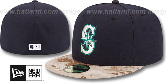 Mariners '2015 STARS N STRIPES' Fitted Hat by New Era : pictured without stickers that these products are shipped with